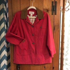 {L. L. Bean} red Barn Jacket PM